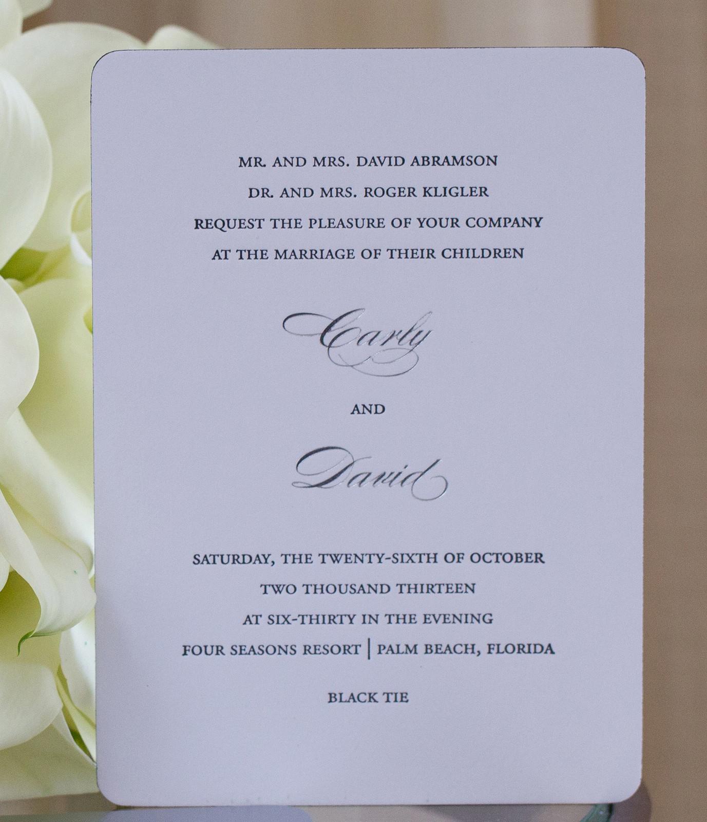 Wedding Invitations In Maryland: Baltimore, Maryland Wedding