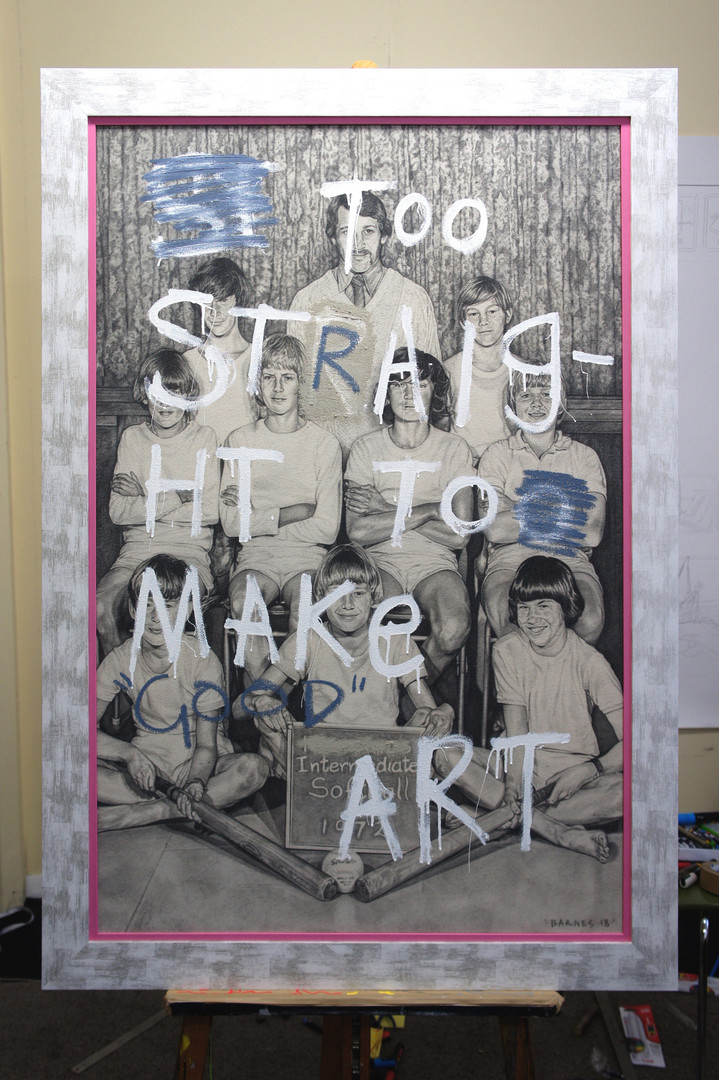 TOO STRAIGHT TO MAKE GOOD ART (IN STUDIO)