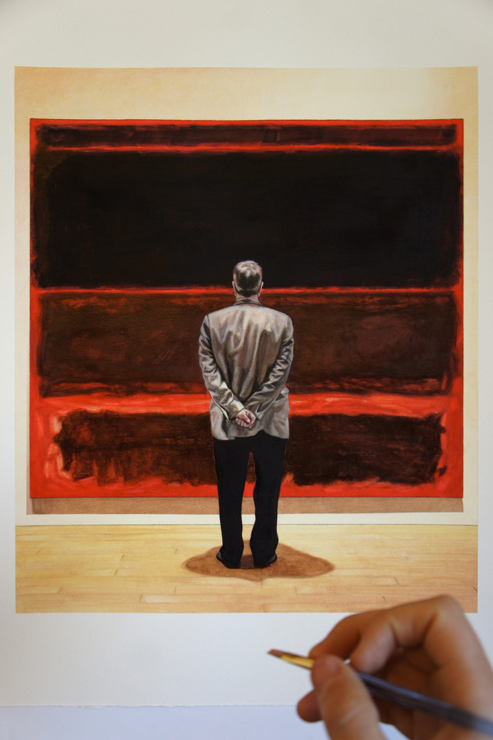 A DAY AT THE MUSEUM #`1 (AFTER ROTHKO)