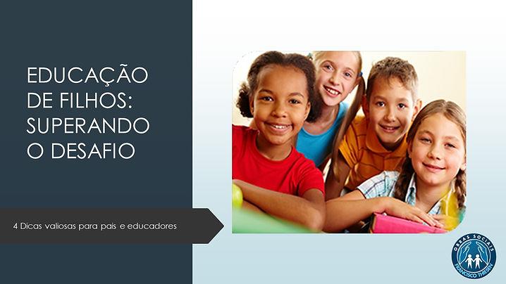 Capa E-book Educação de Filhos