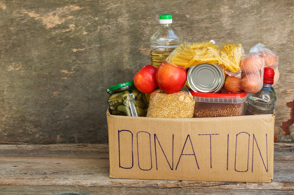 Donation box with food. .jpg