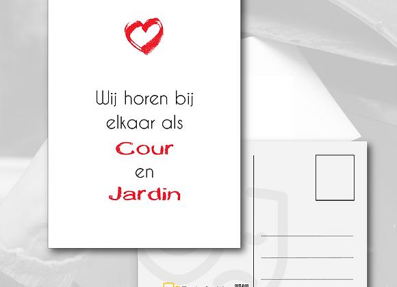 Postkaart - Cour&Jardin