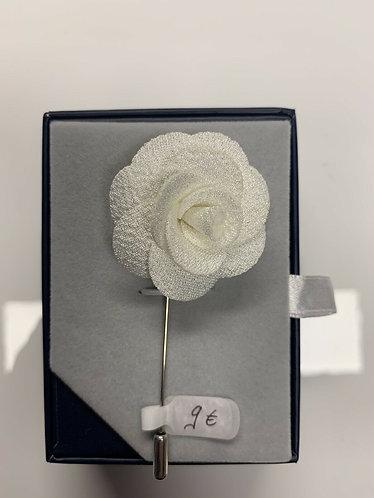 Anstecknadel - Blume -Weiß