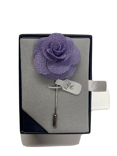 Anstecknadel - Blume - Flieder/Lavendel