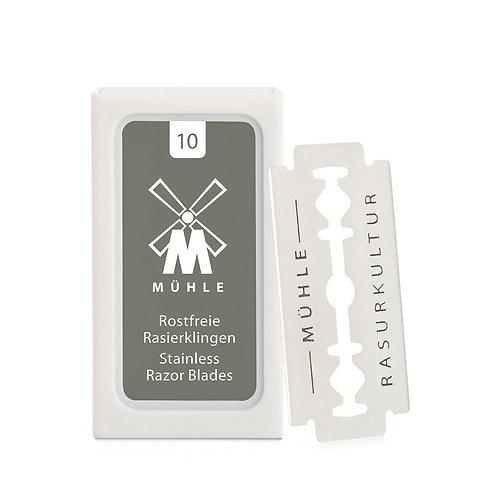 MÜHLE Rasierklingen, 10er Pack, für traditionelle Sicherheitsrasierer