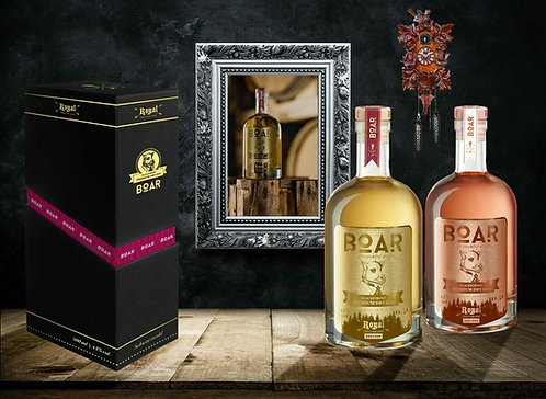 BOAR ROYAL GIN Set (ROYAL & RUBIN) 2x 0,5L – Im Barrique gereift