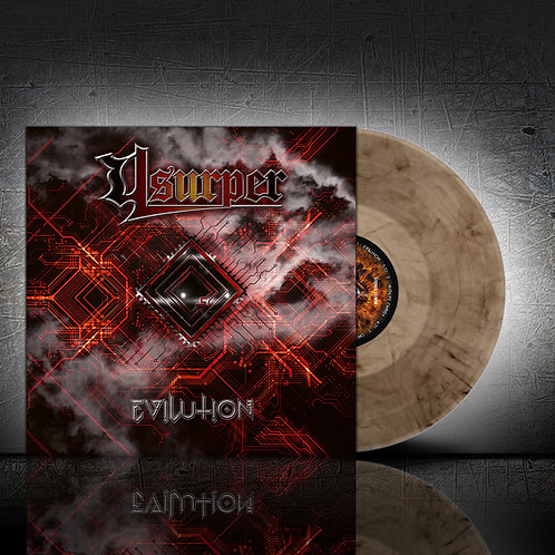 Usurper - Evilution (Crystal Clear/Black vinyl)