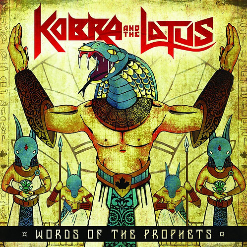 """Kobra And The Lotus  - Words of The Prophets (EP) (Lt. Blue Marbled 10"""" Vinyl)"""