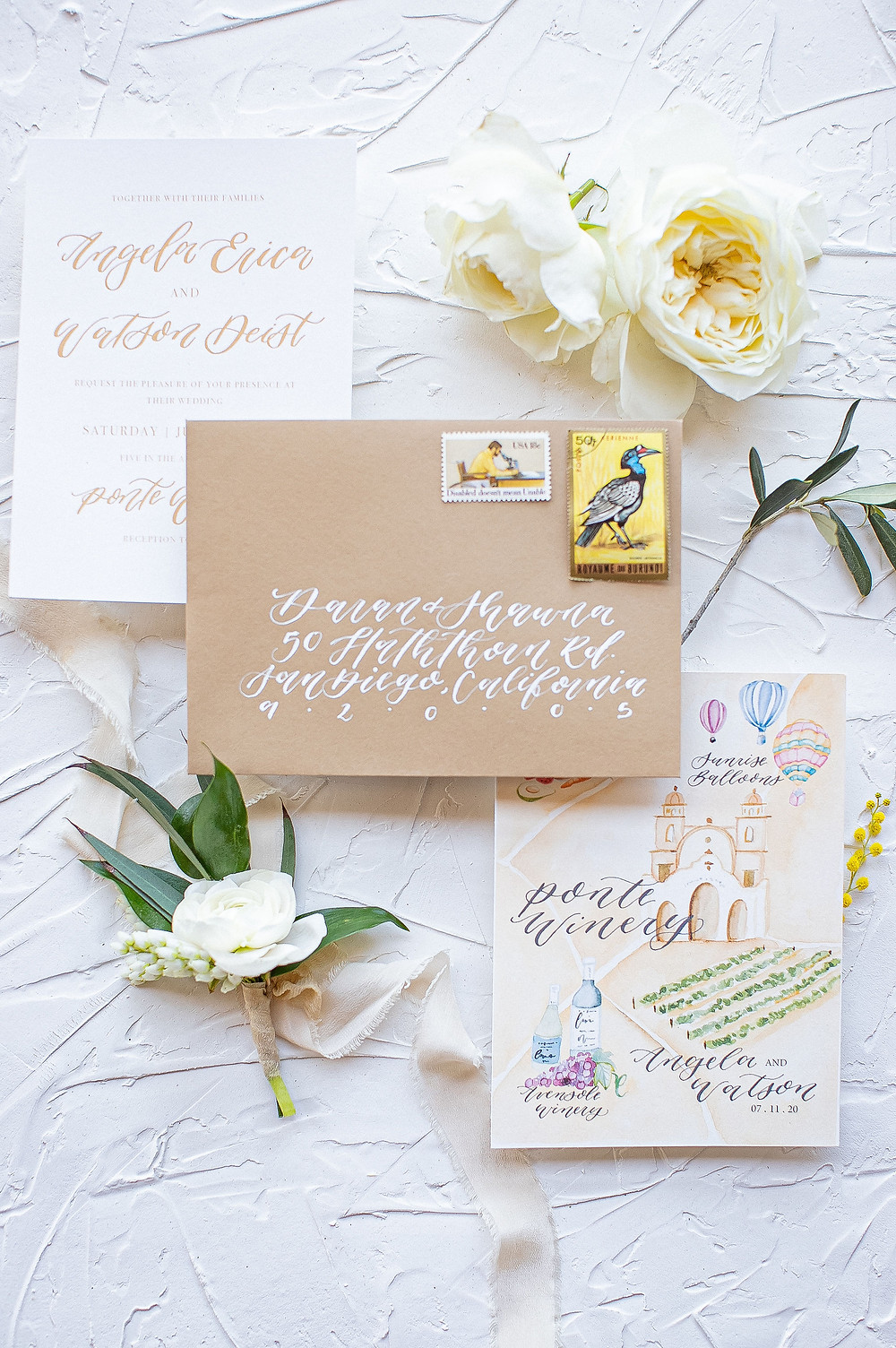flatlay invitation details