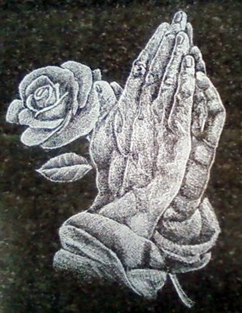 Praying Hands & Rose