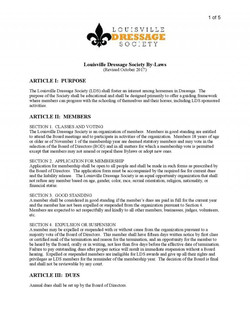 Bylaws Page 1