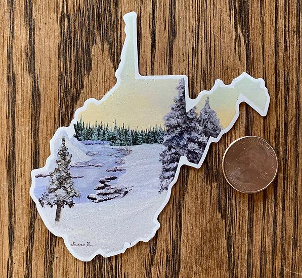 WV Winter Magnet