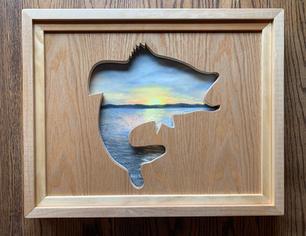 Fish 3D Commission 16x20