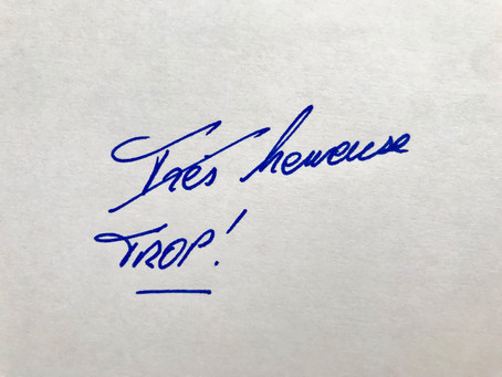 """Mieux que le """"très""""... le """"trop"""" ! Too much ?"""