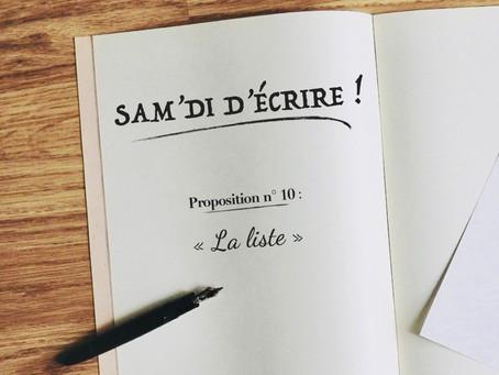 """Sam'di d'écrire"" n° 10"