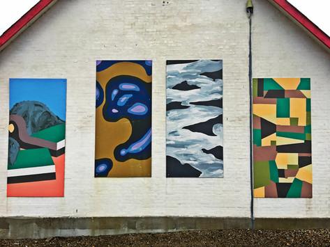 Fire kunstværker fra Kulturkaravanen i 2009.