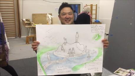 Toru Matsuokas skitse af Bjerget i Søen