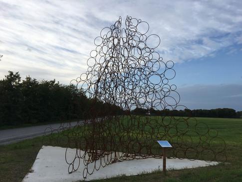 """Skulpturen Takayuki Tomoi """"MA"""" fra 2018"""