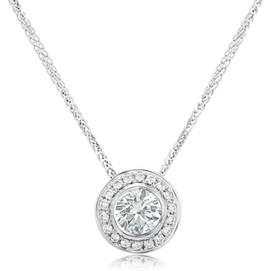 Round Diamond Necklace