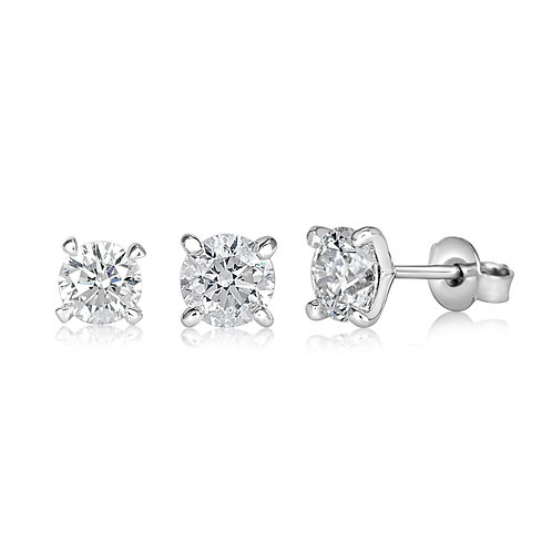 Triplets Earring Diamond