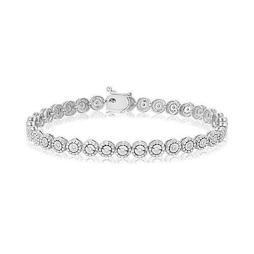 White Beads Tennis Bracelet