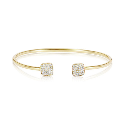 White Gold Open Bangle