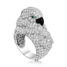 Diamond Bird Ring