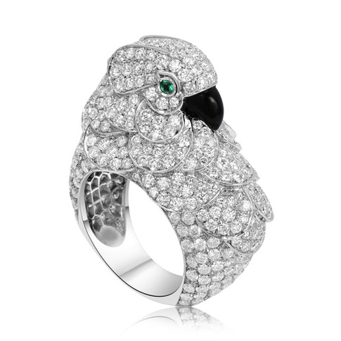 Diamond Bird Ring