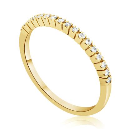 Yellow Diamond Row Ring