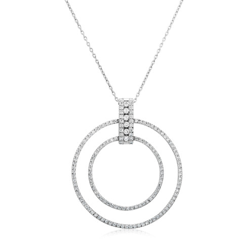 Double Ring Necklace (N315.6)