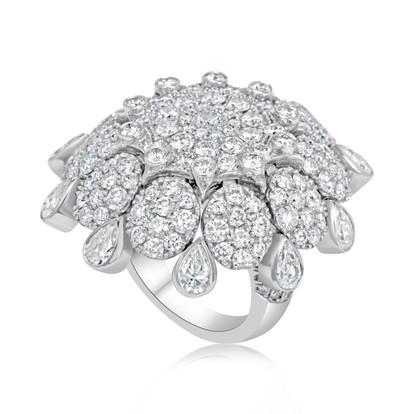 Diamond Tear Ring