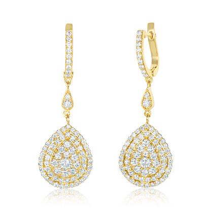 Drop Yellow Earrings (E424.6)