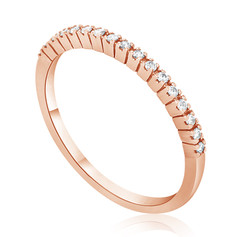 Rose Gold Diamond Row Ring