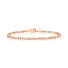 Rose Gold Beads Tennis Bracelet (B260.28)