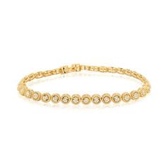 Yellow Beads Tennis Bracelet (B260.24)