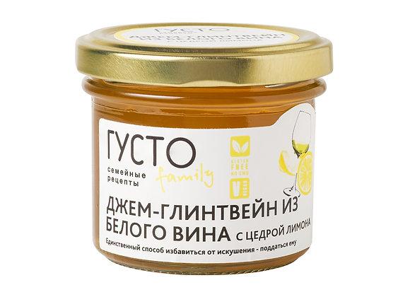 ДЖЕМ-ГЛИЕНТВЕЙН из белого вина с цедрой лимона