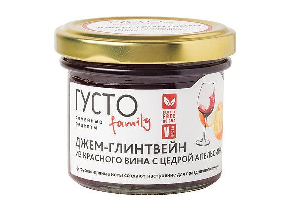 ДЖЕМ-ГЛИЕНТВЕЙН из красного вина с цедрой апельсина