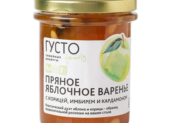 Пряное яблочной варенье с корицей, имбирем и кардамоном