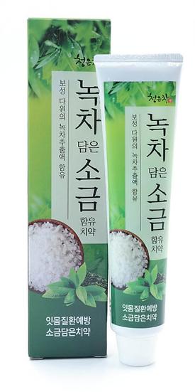 Зубная паста 2080 соль и экстракт зеленого чая 120г