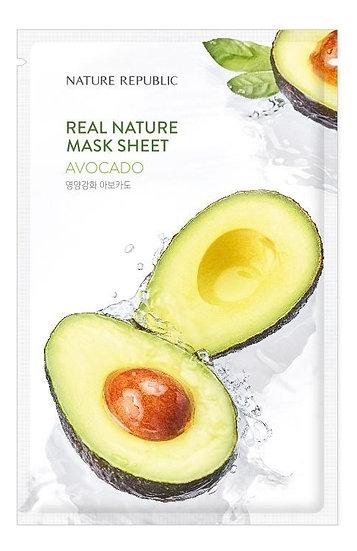 Тканевая маска с авокадо NATURE REPUBLIC