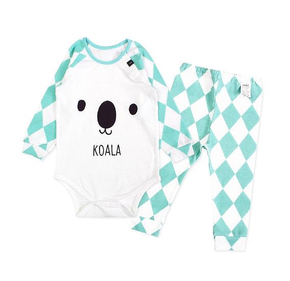 """Хлопковый костюм """"Коала"""" для малыша"""