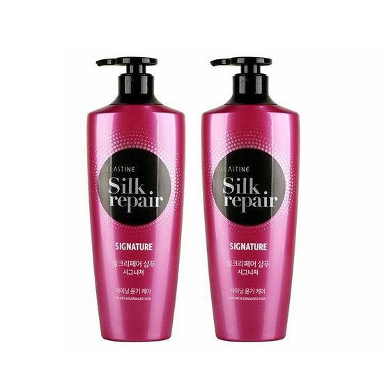 Набор шампунь+бальзам с протеином шелка LG Elastine silk repair 550мл*2