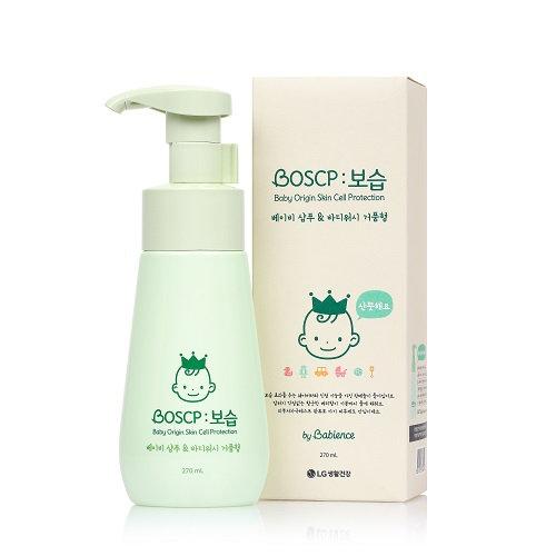 Детский шампунь и гель для тела LG Babience shampo&body wash 270мл