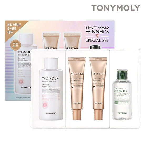 Набор (Эссенция 2шт + тонер +очищающая вода) Tony moly Beauty Award Winner