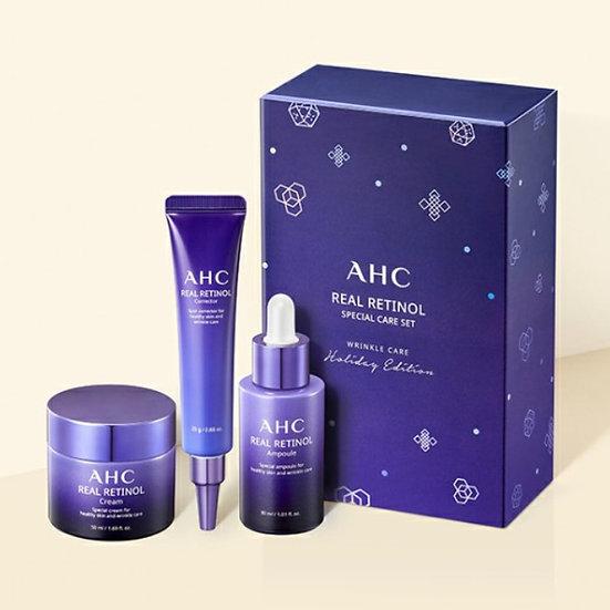Антивозрастной подарочный набор с ретинолом AHC real retinol special care set