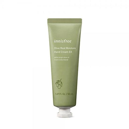 Крем для рук с экстрактом оливы Innisfree Olive Real moisture hand cream