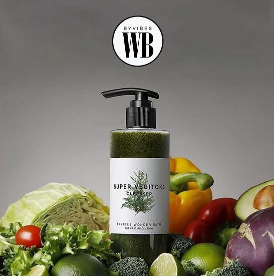 Детокс-гель для очищения лица Wonder Bath Super Vegitoks Cleanser Green