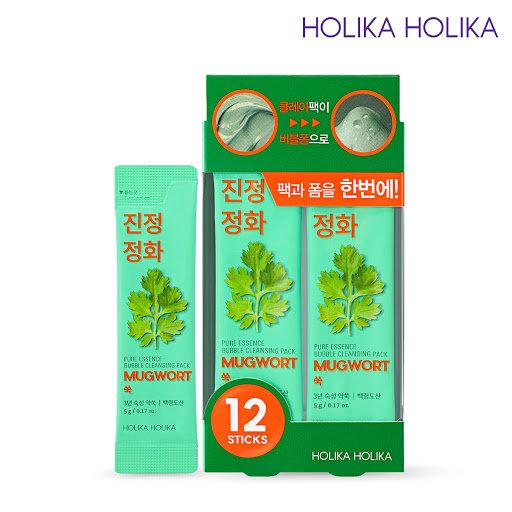 Пузырьковая линяная маска-пенка c экстрактом полыни HOLIKA HOLIKA