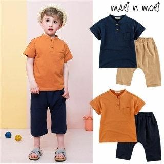 Стильный летний костюм для мальчика из хлопка