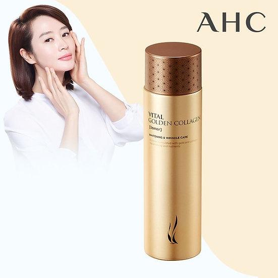 Омоложиваюший тонер с коллагеном AHC Vital Golden Collagen Toner 140мл